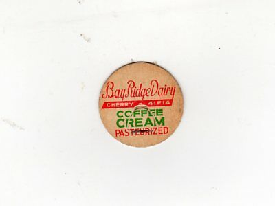 Bay Ridge Dairy Green Bay Wi Past. Coffee Cream Milk Bottle Cap Wisconsin.