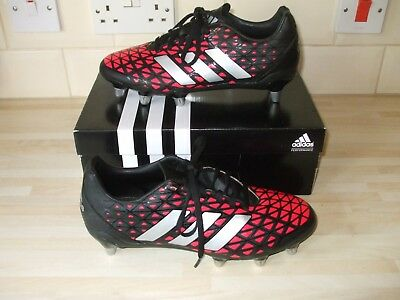 Mens Adidas Kakari SG Changeable Studs Red&Black Rugby Boots UK 8 Worn Once Only