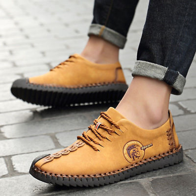 Men Casual Sneaker Leather Soft Leisure Loafers Breathable Footwear Shoes Lot