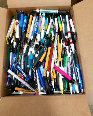 Bulk Box of 1,000 Misprint Plastic Retractable Ball Point Pens - Wholesale Lot