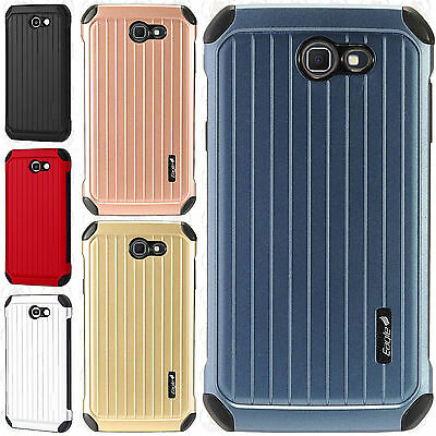 For Samsung Galaxy J7 Sky Pro Rubber IMPACT CO HYBRID Case Skin Phone Cover