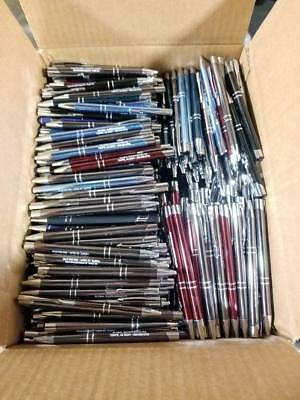 Bulk Box of 200 Quality Metal Pens ~Wholesale Misprint Metal Retractable Pens