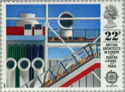 GREAT BRITAIN -1987- British Architects in Europe - MNH Stamp - Sc. #1177