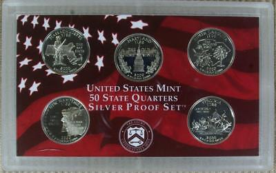 WEEKEND SPECIAL 2000-S GEM SILVER Proof State Quarter Set - @ CherrypickerCoins