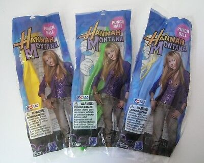 Disney Hannah Montana Party Punch Balloons  X3 Green / Yellow / Blue