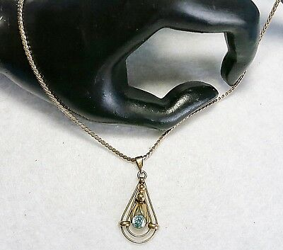 Vintage from Art Deco Era B&B Binder Bros Gold Filled Lavaliere Pendant on Chain