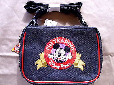 Disney Parks * PIN TRADING MICKEY - SMALL PIN BAG * Shoulder Strap New w/ Tags