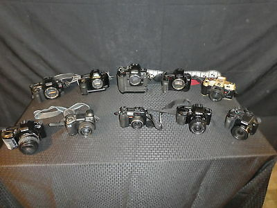 LOT OF 10 Film And Digital Cameras! Nikon, Canon, Olympus, HP, AS-IS FPOR (390)