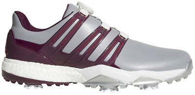 Adidas Powerband BOA Boost Golf Shoes Grey/Ruby 9.5 Medium