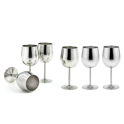 6 pieces Metal Wine Champagne Drinks Cups Glasses Goblets for Home Party Use