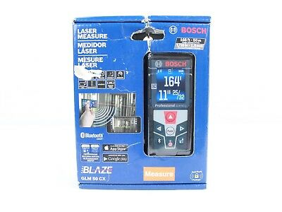Bosch 165 ft. Laser Measure with Bluetooth & Full-Color Display -  GLM 50 CX New