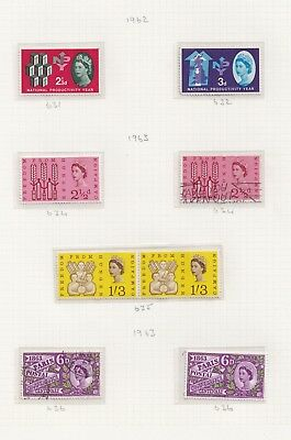 Lot:26466  GB QEII  1960-63 Commems as mounted on album pages