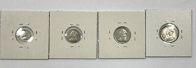 1746 Great Britain Maundy Silver Pence 4-Coin Set 1, 2, 3, and 4 Pence *Q2