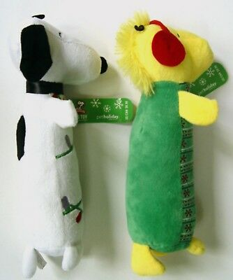 2 Peanuts SNOOPY & WOODSTOCK PLUSH CHRISTMAS DOG TOYS  from 2014 - w/Tags Unused