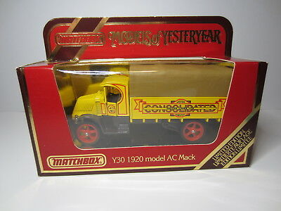 "Matchbox 1984 Models of Yesteryear Y30 AC Mack 1920 ""Consolidated""  Neu in OVP"
