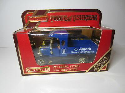 Matchbox 1984 Models of Yesteryear Y12 Ford Model T G.Imbach Wolhusen Neu in OVP