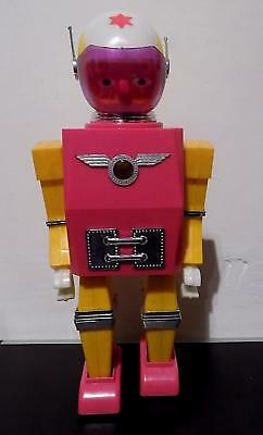 Vintage Plastic Battery Operated Zero of Space (?) Robot, Hong Kong, Ex Cond.