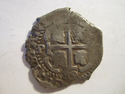 1689 spanish coconire cob (potosi) 2 perles nice example AS SHOWN *3192
