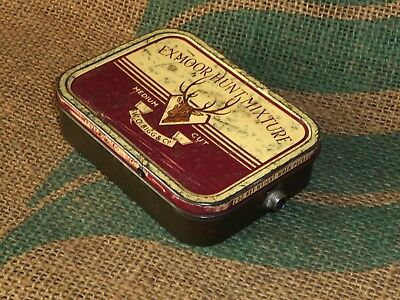 'old Tin Stomp Box'. Hand Made Stomp Box. From Old Exmoor Hunt Tobacco Tin.