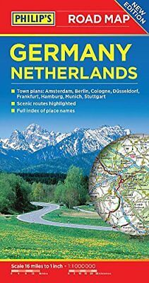 Philip's Germany and Netherlands Road Map (Philips Road Map) by Philips Maps - B