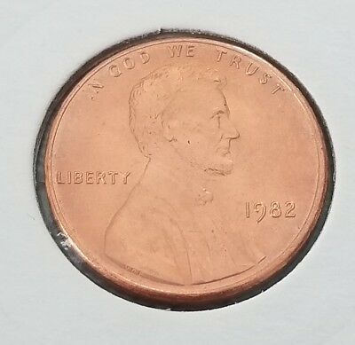 1982-P Lincoln Sm Dt Small Date Zinc Penny Cent - Gem Bu Red Unc!!!