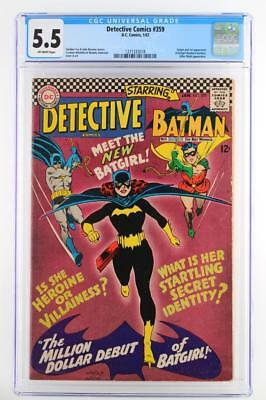 Detective Comics #359 - CGC 5.5 FN- DC 1967 -Batman- 1st App/ORIGIN of Batgirl!