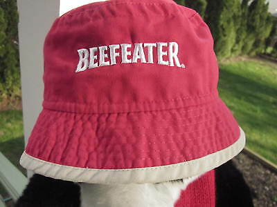BEEFEATER GIN BUCKET HAT EMBROIDERED COTTON CANVAS RARE FIND Nautical Style