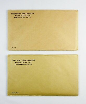 1962 & 1963 U.s. Proof Sets ~ Sealed Ogp