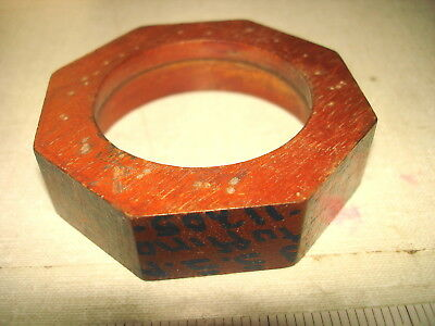 Old S.F. Ca Shipbuilding Foundry Labeled Wooden Mold – CAP NUT SS Malolo NR