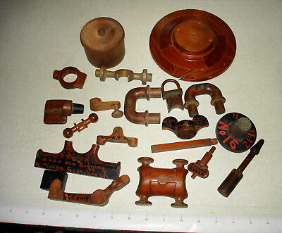 Old S.F. Ca Shipbuilding Foundry Labeled Wooden Molds – 19 Miscellaneous Pcs Lot