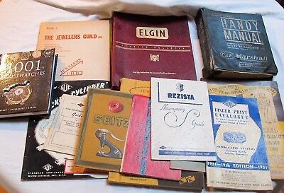 Estate Lot Of Vintage Pocket/wristwatch Books And Catalogs - Great Value - (C10)