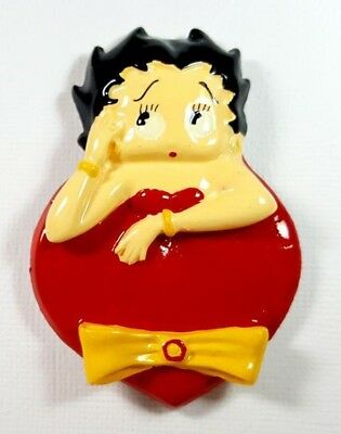 RARE Vintage Ceramic Magnet Betty Boop red dress bow Benjamin Medwin 1995 MINT