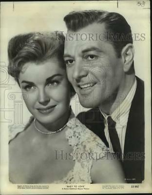 """1953 Press Photo Esther Williams and Tony Martin in MGM's """"Easy to Love"""""""