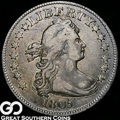 1805 Draped Bust Quarter, Tough Early Silver Type, Better Date ** Free Shipping!