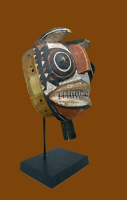A Rare Old Bobo Fing Mask with Old collection label ~ African Art
