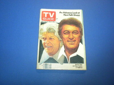 TV GUIDE magazine February 26, 1977 with no mailing label ROCK HUDSON MCMILLAN