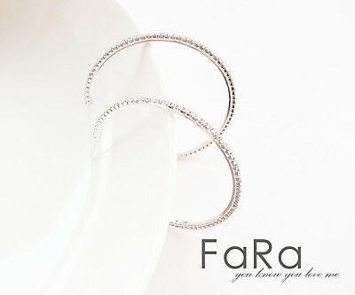 cheap Jewelry Fashion 5CM silver clear Crystal Hoop Rhinestone Luxury Earrings