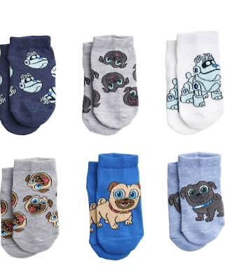 Disney Puppy Dog Pals 6 Pack Socks Toddlers 2T-4T New!