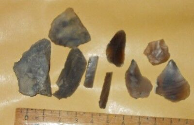 Mesolithic -Neolithic Flint Microliths /arrowheads/projectiles