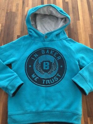TED BAKER Boys Hooded Jumper Hoodie Age 5-6 GREAT CONDITION