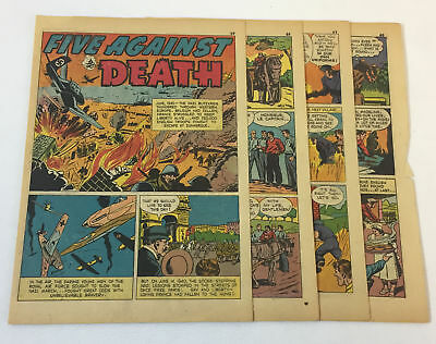 1942 eight page cartoon story ~ ROYAL AIR FORCE VS THE NAZIS