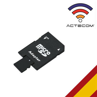 Actecom® Adaptador Tarjeta Micro Sd A Sd Secure Digital Sdhc