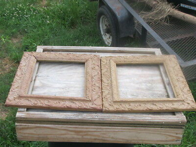Pair of Gesso Gilt Antique Picture Frames 9.5 x 11.5 Opening 2 Frames sold as is