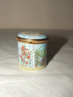 Halcyon Days Enamelled Who Loves The Garden Lidded Box  Truly Fabulous