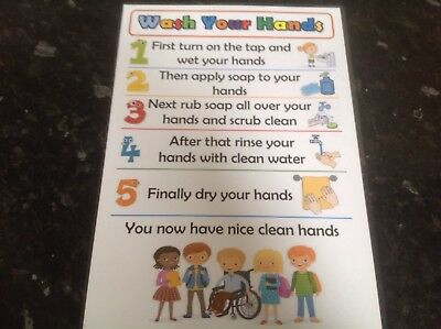 wash hands poster childminder nursery playgroup ofsted SEN autism ADHD