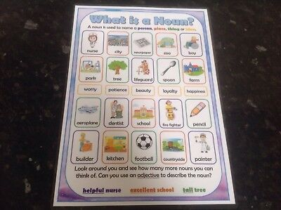 literacy noun types of nouns poster teaching and learning grammar teaching aid
