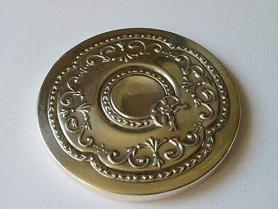 Beautiful Solid Silver Pocket / Bag Mirror Sheffield 1996 Carrs