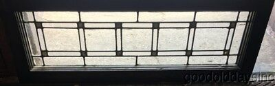 """1 of 2 Antique Leaded Glass Transom Window 34"""" by 12"""" Circa 1920"""