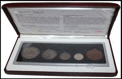 5Pcs 1998 Royal Canadian Mint 90Th Anniversary Antique Finish Silver Coin Set