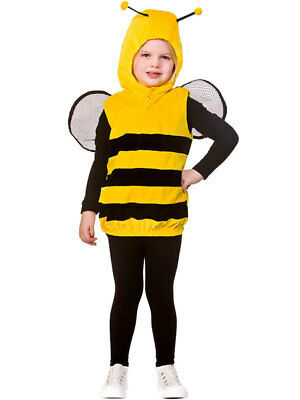 Boys Girls Child Bumble Bee Fancy Dress Costume Tabard Book Day Week Kids Insect